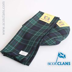 MacCallum Modern Tartan Cap and Scarf Set. Free worldwide shipping available