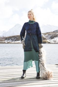 """Cardigan """"Folkkonst"""" - richly patterned in gorgeous material!"""