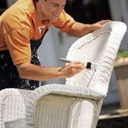 How to redo an outdoor wicker furniture
