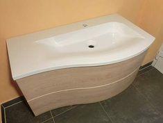 Burgbad Sinea 1.0 Waschtisch mit Unterschrank 91cm Version rechts, Hacienda Creme, WTU091ERF0970 - Bernd Block | Haustechnik