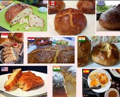"""Pinca Worldwide!  This post is a tribute to all """"Pinca Foodiestars"""" and their culinary talents.They made Pinca in UK Canada Greece Singapore India Spain and the USA!  Not only they made wonderful Croatian Easter Bread but they became the ambassadors of Croatian culinary customs around the world!  HUGE Thank you to Rita Dolce Little Cooking Tips (G Fan Page) Balvinder Ubi Kanak Hagjer Shana Shameer Indrani Sen Azlin Bloor and Joy Stewart  my Foodies friends who made this Easter special :)…"""