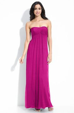 Amsale Strapless Chiffon Gown | Nordstrom