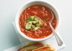 5 Easy Gazpacho Recipes to Cool Summer�s Swelter | Fresh, cool gazpacho is an ideal way to taste the peak of summer without turning up the heat. All the intense flavors, aromas, and colors of the season�s best produce are delivered to your senses in one simple no-cook bowlful. Like so many homegrown recipes, there�s no one right way to make gazpacho. And there are as many variations as there are seeds in a tomato. Here�s are 5 of our top-rated favorites to try.