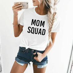 Mom squad Shirt Womens Shirt  Mother's Day gift Mama Shirt New mom Shirt Mom T Shirt Womens Graphic Tee Graphic Tees for Women by ClothingByShane