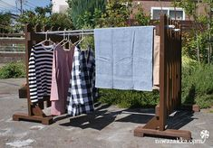 Clothes Dryer, Outdoor Outfit, My Dream Home, Wardrobe Rack, Pergola, Geek Stuff, Blanket, Clothes Lines, Furniture