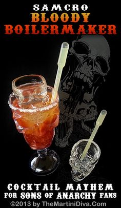 SONS of ANARCHY COCKTAIL - The Bloody Boilermaker. Click image for recipe and instructions.