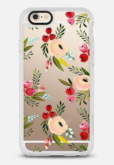 Rose gold floral iPhone 6 case by sarahcrayart | Casetify