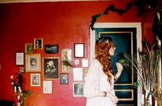 red walls, red hair