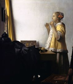 """Johannes Vermeer, """"Young Woman with a Pearl Necklace"""""""