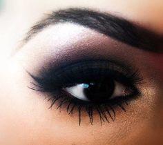 beauty makeup cosmetics eyeshadow brown eyes smokey eye