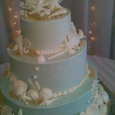Beach themed wedding cake Stansbakery.com Stan's Northfield Bakery in Northfield, Ohio  Specializing in yummy sweet treats since 1961.
