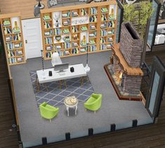 Casas The Sims Freeplay, Sims Freeplay Houses, Sims Free Play, Laundry Room Colors, Skate Ramp, Cozy Office, Sims 4 House Design, Sims House Plans, Casas The Sims 4