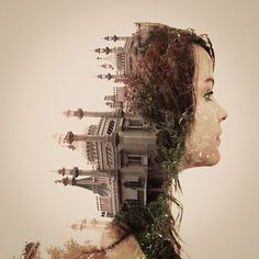 Double-exposure photography by Dan Mountford