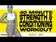 40 Minute Strength & Conditioning Workout | POWER Program - Day 30 - YouTube Strength And Conditioning Workouts, Circuit Training Workouts, Power Walking, Hiit Program, Workout Challenge, Weight Training, Ways To Lose Weight, Lose Belly Fat, Workout Videos