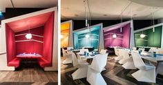 Awesome booths. Restaurant design