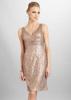 Classy gold frock by Eliza J $70 on ideeli