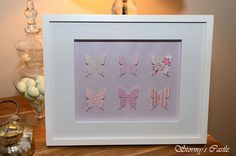 Pink and mauve butterfly shadow box I created...perfect for a little girl's room!