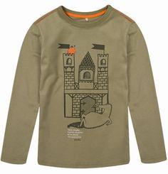 """T-shirt dla chłopca. Kolekcja: """"Dla walecznych rycerzy i odważnych księżniczek""""."""