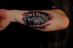 tattoos Jack Daniels Tattoo, Jack Tattoo, 7 Tattoo, Badass Tattoos, Tattoos For Guys, Girl Tattoos, Awesome Tattoos, Skull Tattoos, Rose Tattoos