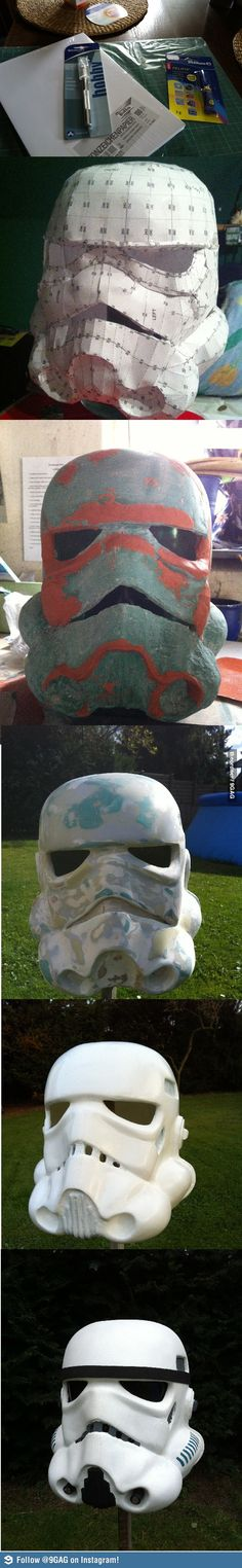how to make your own stormtrooper helmet!!
