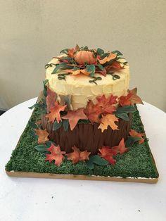 Gâteau décoré thème automne /  Autumn theme decorated cake Homemade Cakes, Desserts, Food, Autumn Theme, Tailgate Desserts, Deserts, Meals, Dessert, Yemek