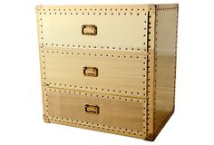 One Kings Lane - Brass 3-Drawer Chest