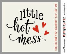 Little Hot Mess - SVG Studio3 DXF EPS png - little girl cuttable/clipart design - for Cricut and Silhouette Cameo - clean cutting files by CleanCutCreative on Etsy