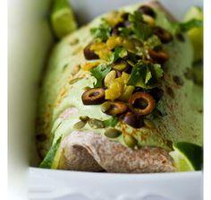 smothered burrito with cashew cream sauce - vegan