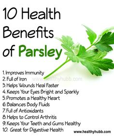 10 Health Benefits of Parsley! #herb #wellness #health #nutrition