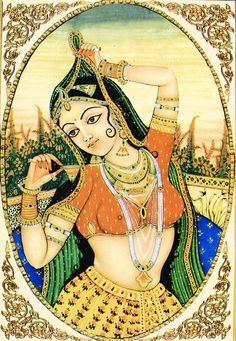 This Woman Is Photoshopping Indian Gods Taking Selfies, And It's Freakin' Glorious - Rajasthani Miniature Paintings, Rajasthani Painting, Rajasthani Art, Mughal Paintings, Indian Art Paintings, Madhubani Painting, Indian Traditional Paintings, Traditional Art, Indiana