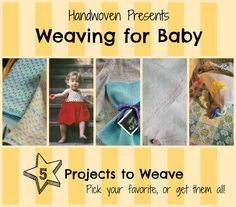 Create a collection with baby in mind in the Weaving for Baby Pattern Collection. These weaving projects are fun, quick, easy and absolutely adorable to weave. Whether you are a beginner or a seasoned weaver, you'll find this collection of dig Loom Weaving, Hand Weaving, Weaving For Kids, Weaving Projects, Baby Patterns, Beading Patterns, How To Introduce Yourself, Weave, Arts And Crafts
