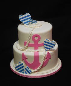 Anchors Away baby shower cake