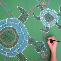 How to make Dotted paintings: Australian art