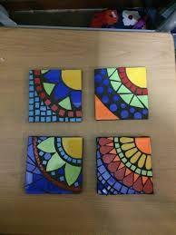 Image result for patrones de guardas para decorar macetas en mosaiquismo Paper Mosaic, Mosaic Wall Art, Mosaic Crafts, Mosaic Projects, Tile Art, Mosaic Glass, Mosaic Tiles, Glass Art, Art Projects