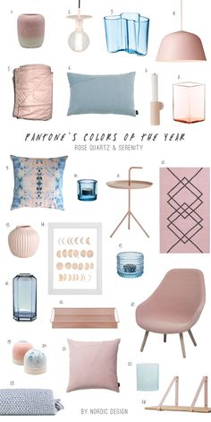Pantone's 2016 Colors of the Year: Rose quartz & Serenity Rose Quartz Serenity, Home And Deco, Color Of The Year, Home Decor Trends, My New Room, Pantone Color, Decoration, Home Accessories, Bedroom Decor