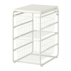ALGOT Frame with 2 wire baskets/top shelf - IKEA -- laundry room/basement storage