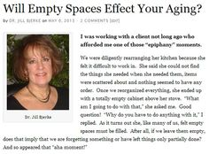 Will Empty Spaces Effect Your Aging? Click to read the full article