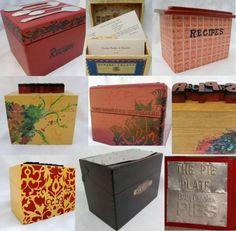 Vintage recipe boxes.