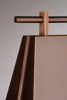 Tyr - Lamp, patinated brass | Nicolas Aubagnac