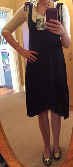 The Girl With Nothing to Wear: Black dress, skull shoes, work style, spring style
