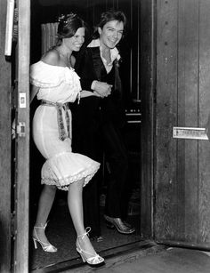 """Pop singer David Cassidy and actress Kay Lenz leave the """"Little Church of the West"""" after their wedding in Las Vegas, NV., on April 3, 1977. The marriage was delayed 15 minutes because Cassidy forgot the marriage license. (AP Photo)"""