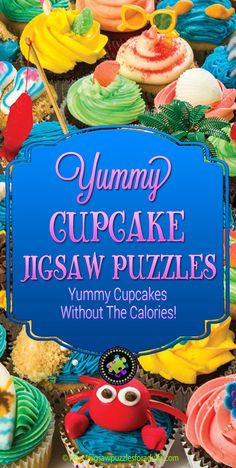LOVE these Cupcake Jigsaw Puzzles! These jigsaw puzzles are totally delicious and you'll find plenty of realistic cupcake puzzles to work on without the added calories! Love Cupcakes, Yummy Cupcakes, Difficult Jigsaw Puzzles, Hobbies For Couples, Yummy Treats, Hobby Ideas, Fun, Kids, Collage