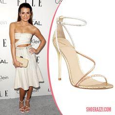 Lea Michele in B Brian Atwood Labrea Sandals - ShoeRazzi