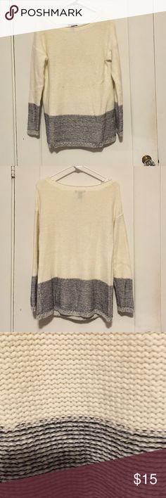 Woven oversized sweater Oversized 2 tone sweater GAP Sweaters Crew & Scoop Necks