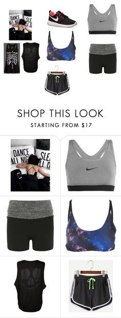 """""""Dance all night:Sleep all day"""" by jordan-moffitt ❤ liked on Polyvore featuring NIKE, Dorothy Perkins, Onzie, WearAll and WithChic"""