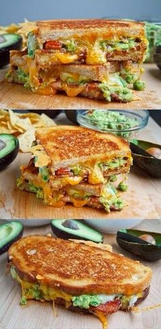 Bacon Guacamole Grilled Cheese Sandwich. (Burger Recipes Veggie)