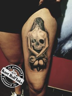 Creepy Tattoos, Dope Tattoos, Skull Tattoos, Forearm Tattoos, Body Art Tattoos, Skull Tattoo Design, Tattoo Design Drawings, Tattoo Sleeve Designs, Tattoo Sketches