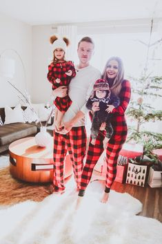 Matching Red Buffalo Plaid Family Christmas Pajamas b6225a390