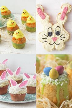4 very adorable and creative ways to decorate your Easter cupcakes! A fun family activity! Cupcake Mix, Cupcake Cakes, Yellow Food Coloring, Pull Apart Cupcakes, Speckled Eggs, Vanilla Cake Mixes, Yellow Foods, Easter Cupcakes, Easter Weekend