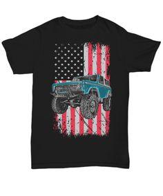 Ford Bronco 4X4 Truck Starring Mens Graffic T-Shirt Bronco Truck 1966-1977